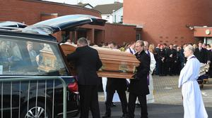 Funeral of the Connors family at the Church of the Ascension of the Lord in Balally in 2015