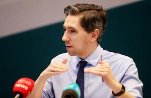 Health Minister Simon Harris said he will be following advice from experts on when lockdown restrictions can be eased (PA)