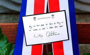 The message on the wreath laid at the Garden of Remembrance