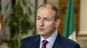Micheal Martin called growth of community transmission 'very very serious' (Julien Behal Photography)