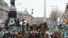 The St Patrick's day parade on the streets of Dublin in 2018 (Brian Lawless/PA)