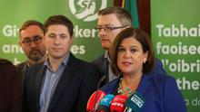 Mary Lou McDonald speaks at a press conference in Dublin (Niall Carson/PA)