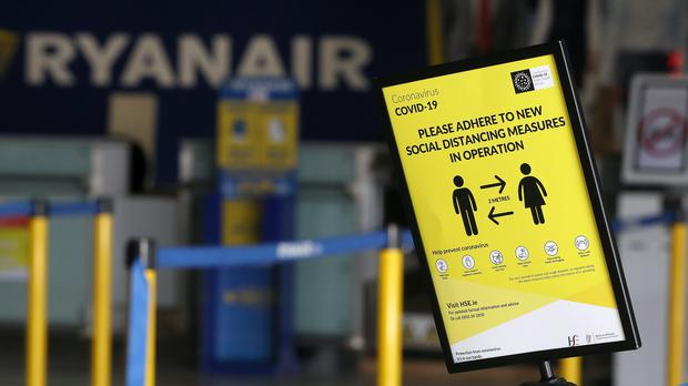 Low-cost airline Ryanair has revealed it ran just 600 scheduled flights last month as coronavirus lockdowns brought air travel to a standstill (Brian Lawless/PA)