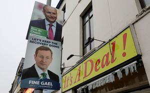 Election posters in Cork during the 2016 general election (Chris Radburn/PA)