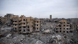 Destroyed buildings in Raqqa, Syria, which was formerly part of Islamic State territory (Amnesty International/PA)