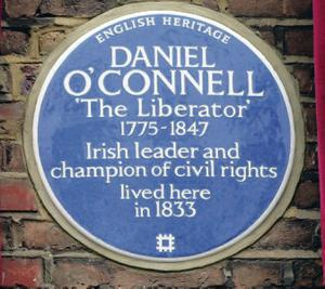 Tribute: the plaque to O'Connell