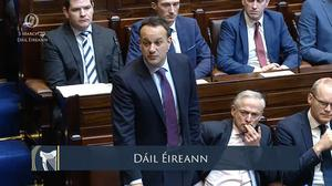 Taoiseach Leo Varadkar tells the Dail that extra legislation may be needed to strengthen employment and social laws to protect those who have to self-isolate in response to Covid-19 (Dail/PA)