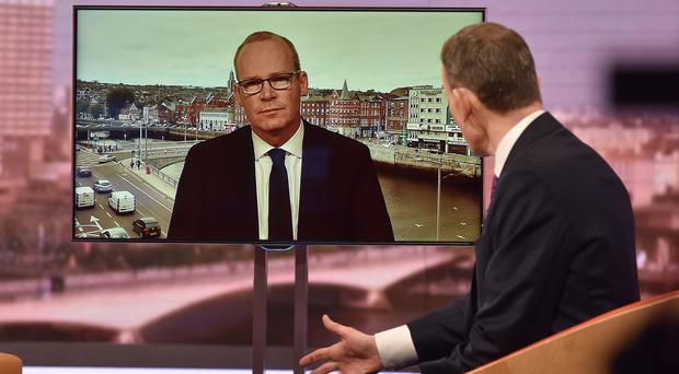 Ireland's deputy premier Simon Coveney appears on The Andrew Marr Show (Jeff Overs/BBC/PA)