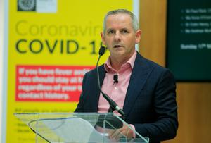 HSE chief executive Paul Reid has said resuming non-Covid services will be an unpredictable process (Photocall Ireland/PA)