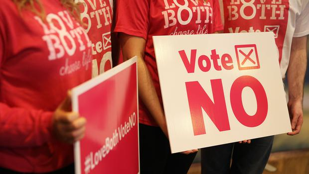 Campaigners at the launch of the LoveBoth Vote No campaign (Brian Lawless/PA)