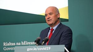 Chief Medical Officer Tony Holohan during a briefing in the Government Buildings in Dublin (Julien Behal/PA)