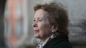 Former Irish president Mary Robinson launches Trinity College's Green Week in the Front Square, Trinity College Dublin (Niall Carson/PA)