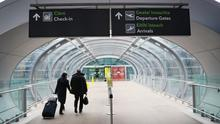 Dublin Airport, as the Government introduces legislation enforcing hotel quarantine for international arrivals (Brian Lawless/PA)