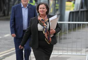 Sinn Fein leader Mary Lou McDonald said the Government is pursuing policy on a 'wing and a prayer' (Brian Lawless/PA).