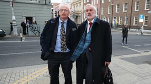 John Treacy (left) and Kieran Mulvey arrive at Leinster House (PA)