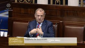 Neil McDonnell, the chief executive of Isme (Screenshot/Oireachtas TV/PA)