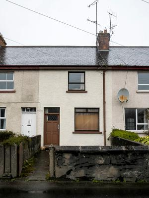 The property on Fountain Terrace in Convoy, Co Donegal, where two pensioners died