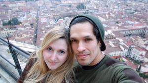 Caia Daly, pictured with her husband Carlos Abisrror, is among hundreds of UK nationals believed to be stranded in Peru (Caia Daly/PA)