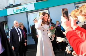 The Duke and Duchess of Cambridge during their visit to the Republic of Ireland