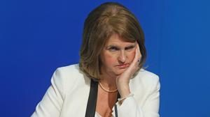 Joan Burton has criticised Paul Murphy's role in a protest which ended in her being barricaded in a car