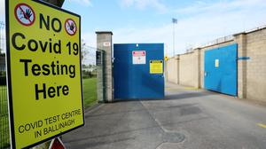 A sign outside a testing centre (Brian Lawless/PA)