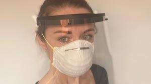Jacqui O'Connor, who founded MedScan3D, is printing 3D face shields for nursing homes across Ireland.Picture sent in by Jacqui.