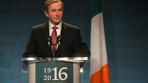 Taoiseach Enda Kenny said the New Year's Day ceremony begins the marking of a year of reflection and remembrance