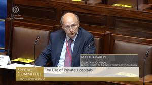 Martin Varley said the private hospital agreement represents 'very poor value for money' (Screenshot/Oireachtas TV)