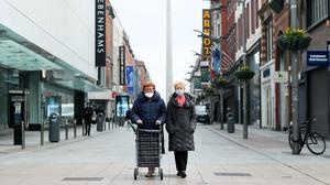 Shops are once again closed in Ireland (Brain Lawless/PA)