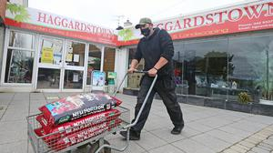 A garden centre in Ireland is prepared for reopening (Niall Carson/PA)