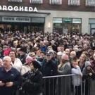 Thousands attended the rally against crime in Drogheda (Aoife Moore/PA)