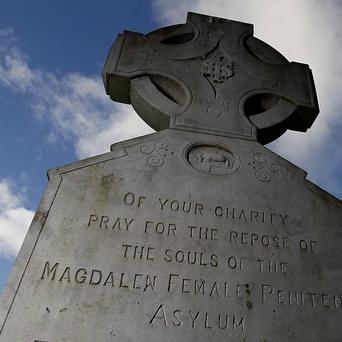 A memorial plaque to victims of the Magdalene Laundries in Glasnevin Cemetery, Dublin