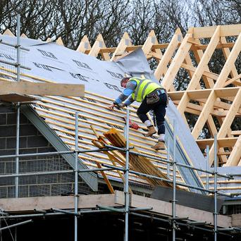 Figures show the number of large extensions and new housing developments being built declined by eight per cent last year