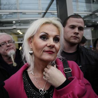 Fiona Doyle speaking to the media outside the Central Criminal Court in Dublin after her father convicted child rapist Patrick O'Brien has been sent to jail after his bail was revoked. PRESS ASSOCIATION Photo. Picture date: Thursday January 24, 2012. The sentencing judge has admitted he was wrong and insensitive to let the 72-year-old walk free from Dublins Central Criminal Court on Monday. O'Brien's 12-year jail term, including nine years suspended, starts now, Mr Justice Paul Carney ruled. See PA story COURTS Rape Ireland. Photo credit should read: Julien Behal/PA Wire