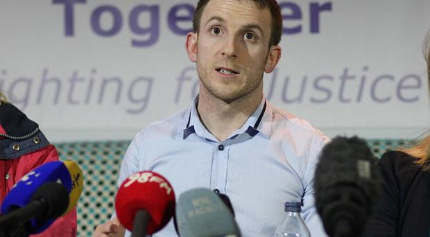 Steven O'Riordan from Magdalene Survivors Together speaks at a press conference in Dublin