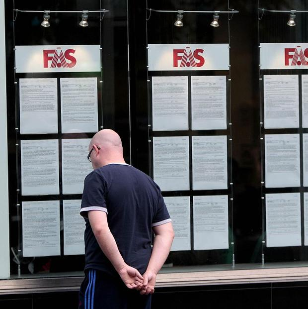 Central Statistics Office figures showed unemployment at just over 14 per cent