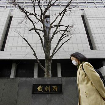Richard Hinds is standing trial at Tokyo District Court (AP)