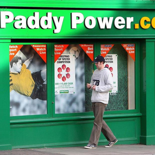 The amount of bets placed by punters with Paddy Power last year rose 16% to just over €7bn (£5bn)