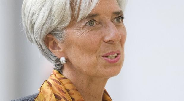 Christine Lagarde has held talks with Enda Kenny, Eamon Gilmore and Michael Noonan in Dublin