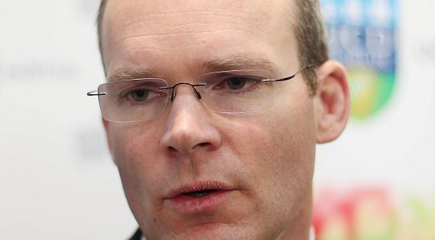 Farmers have picketed the office of Minister for Agriculture Simon Coveney in Co Cork