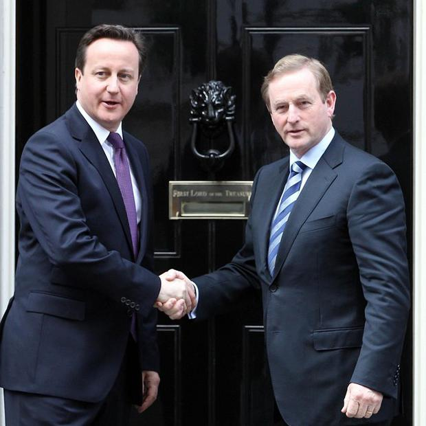 David Cameron with Enda Kenny at Downing Street