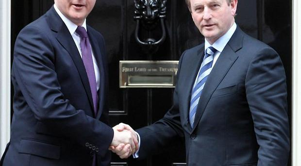 David Cameron meets Enda Kenny at Downing Street ahead of talks
