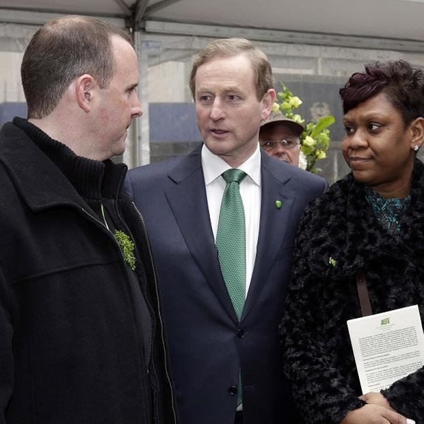 Enda Kenny, who is in New York as part of the annual St Patrick's Day trip, says Ireland is over the worst of its economic recovery (AP)