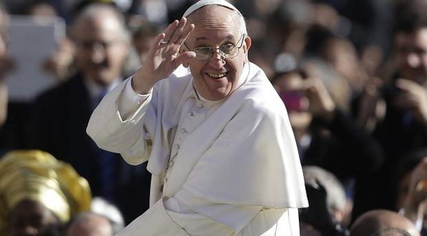 Pope Francis sent his best wishes to the Irish people (AP)