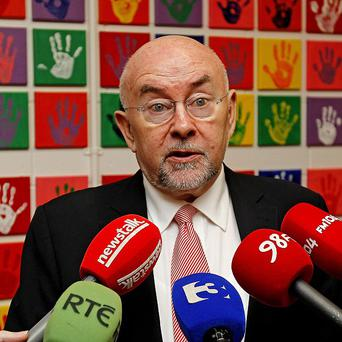 Education Minister Ruairi Quinn has been heckled and jeered over the Croke Park pay deal