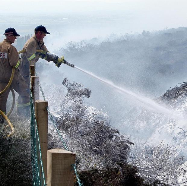 In Donegal, blazes have burned over the past seven days, with about 45 gorse fires reported