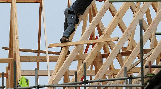 The number of new homes and extensions being built between January and February fell by 14 per cent compared with last year, figures show