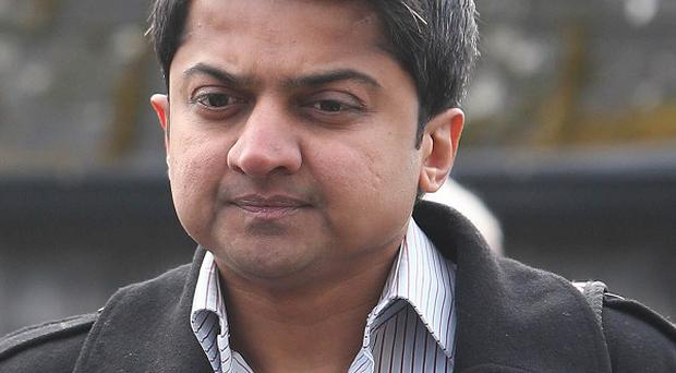 Praveen Halappanavar, the husband of Savita Halappanavar, arrives for day three of the inquest into her death at Galway Coroner's Court