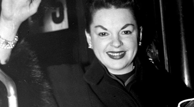 Judy Garland, pictured here in November 1957, was aged 16 when she recorded the song for The Wizard Of Oz in 1939