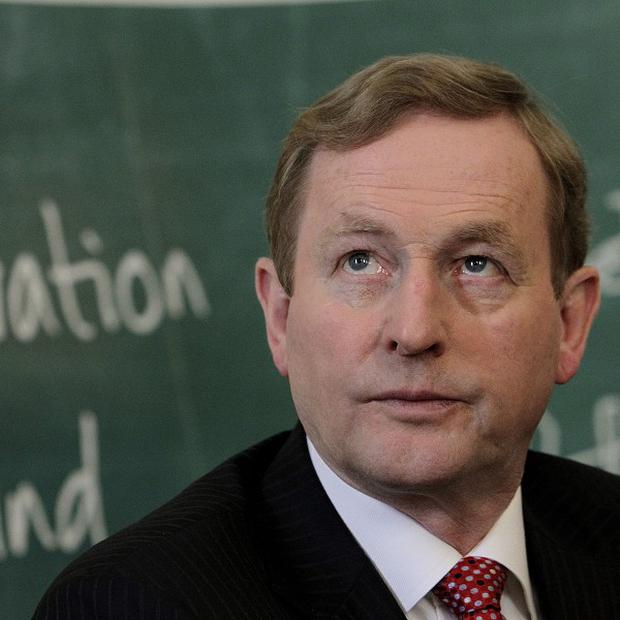 Taoiseach Enda Kenny attended the Glanbia announcement in central Dublin